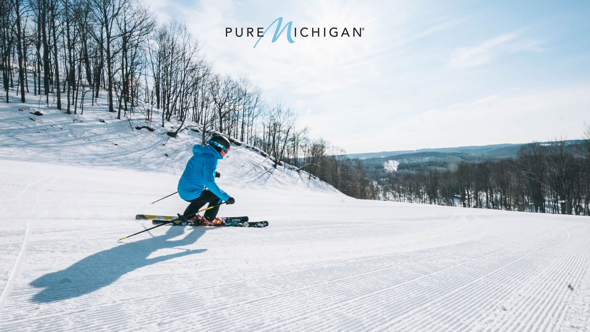 Skier on Schuss Mountain at Shanty Creek Resort