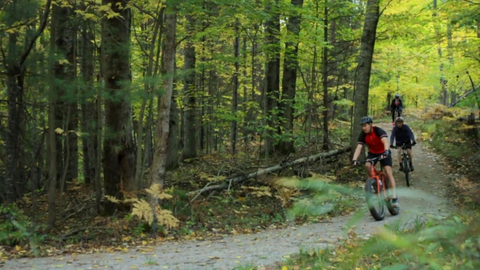 Bikers on a trail in Escanaba